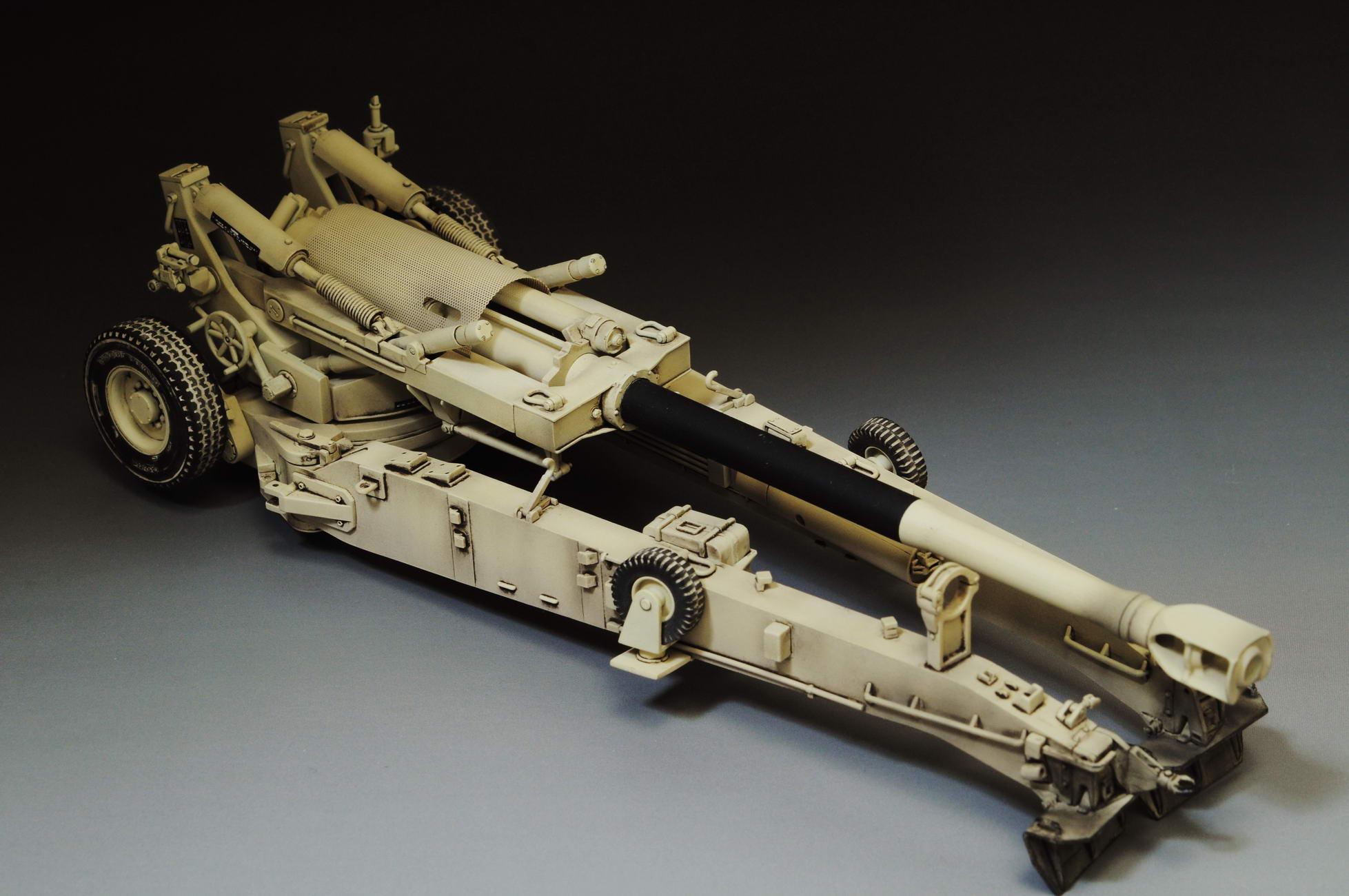PE Award Winner Built trumpeter 1//35 M-198 Howitzer Desert