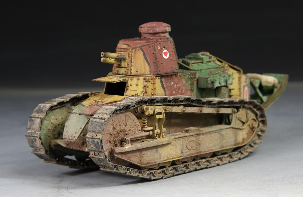 Award Winner Built Meng 1//35 Renault FT-17 Light Tank Five of Hearts US PE