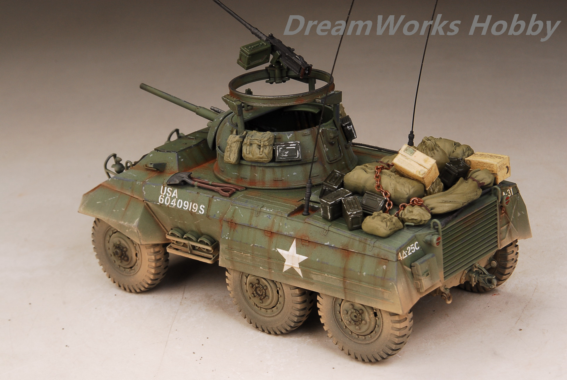Details about Award Winner Built 1/35 US Army M8 Armored Scout Car  Greyhound +Accessories